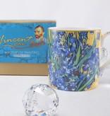CARMANI - 1990 Vincent van Gogh - irises - coffee cup incl. Gift box