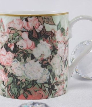 CARMANI - 1990 Van Gogh - vase with roses - coffee cup