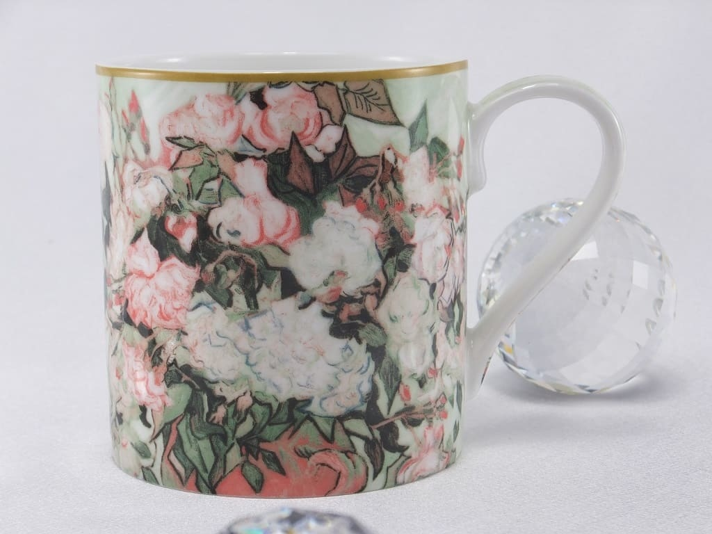 CARMANI - 1990 Vincent van Gogh - Vase with Rose Coffee Cup & Gift Box