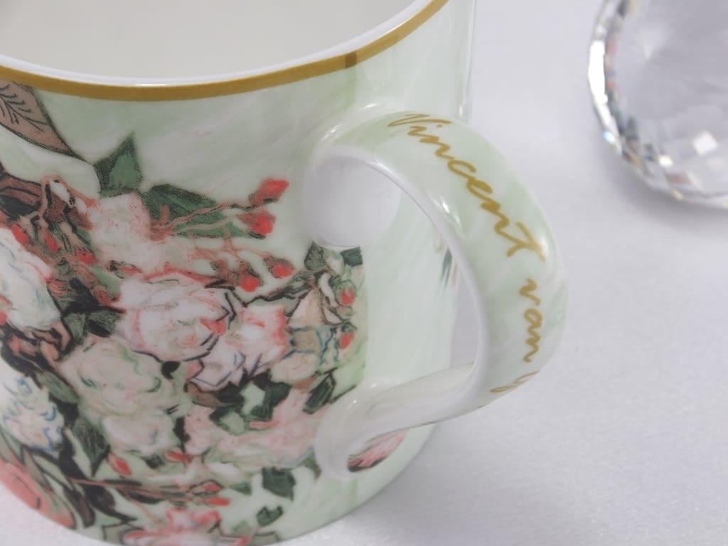 CARMANI - 1990 Vincent van Gogh - Vase mit Rosen- Kaffeetasse &  Geschenkbox