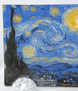 CARMANI - 1990 Van Gogh - Starry Night -Glasteller - 13 x 13 cm