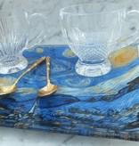 CARMANI - 1990 Vincent van Gogh - Sternennacht - Glasteller 13 x 13 cm