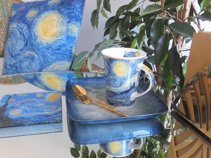 CARMANI - 1990 Vincent van Gogh - Sternennacht -Kaffeetasse in Geschenkbox