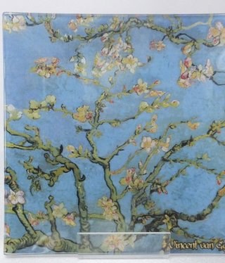 CARMANI - 1990 Van Gogh - glass plate - almond tree