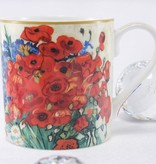 CARMANI - 1990 Vincent van Gogh - Daisies and Poppies - Coffee Cup & Gift Box