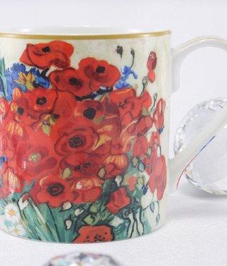 CARMANI - 1990 Van Gogh - Margeriten und Mohnblumen - Kaffeetasse