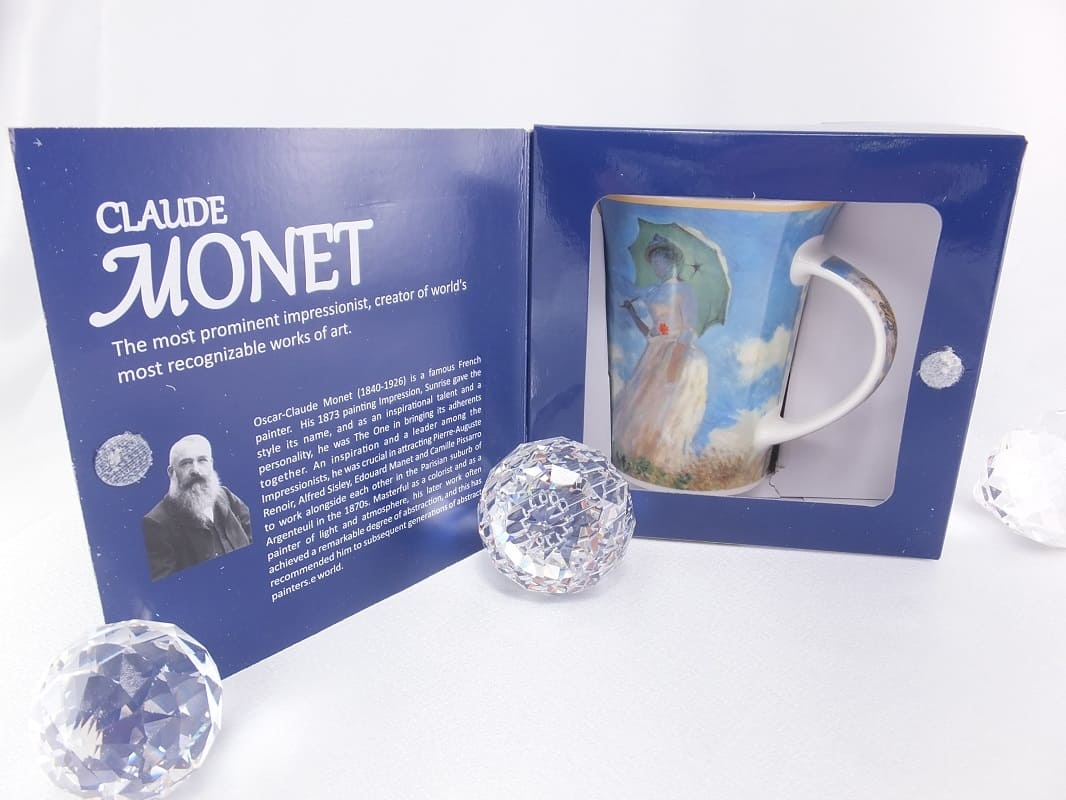CARMANI - 1990 Claude Monet - walk - coffee cup in gift box