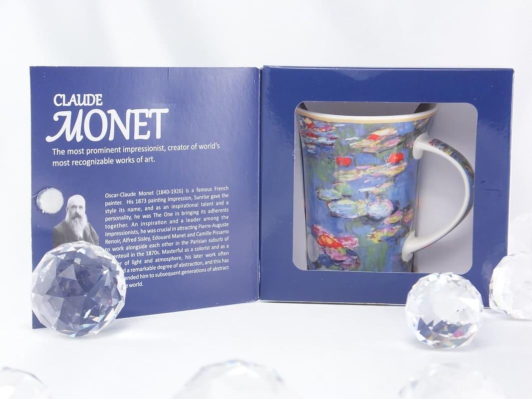 CARMANI - 1990 Claude Monet - water lilies - coffee cup in gift box