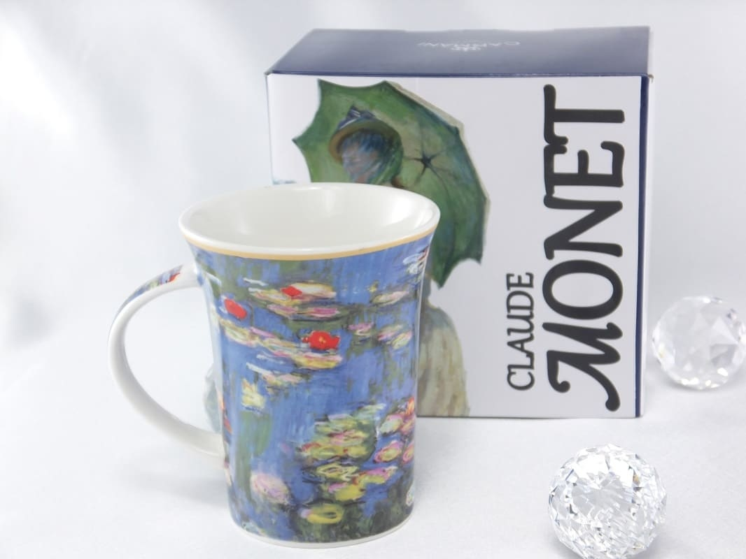 CARMANI - 1990 Claude Monet - water lilies - coffee cup in gift box