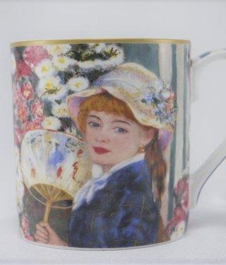 CARMANI - 1990 Auguste  Renoir - Kaffeetasse -  Frau mit dem Fächer
