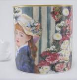 CARMANI - 1990 Pierre - Auguste  Renoir - Frau mit dem Fächer  - Kaffeetasse