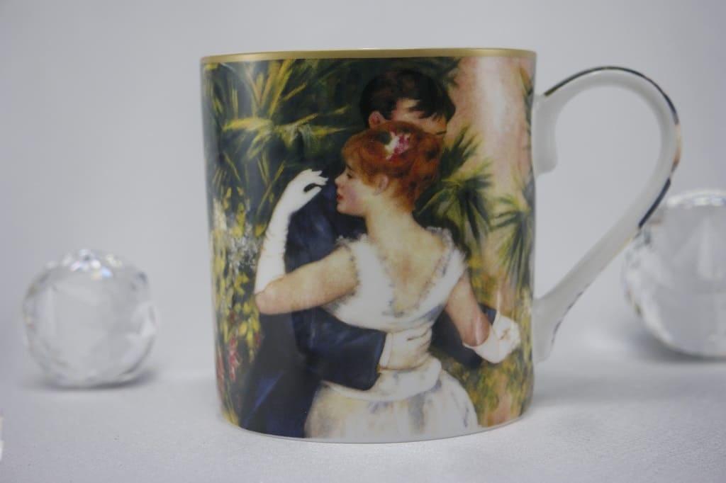 CARMANI - 1990 Pierre - Auguste Renoir - Tanz in der Stadt - Kaffeetasse in Geschenkbox