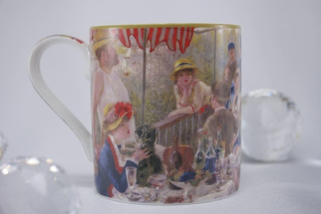 CARMANI - 1990 Pierre -Auguste Renoir - The breakfast of rowers - coffee cup in Geschnekbox