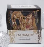 CARMANI - 1990 Gustav Klimt - Der Kuss - Duftkerze Passion   in Geschenkbox