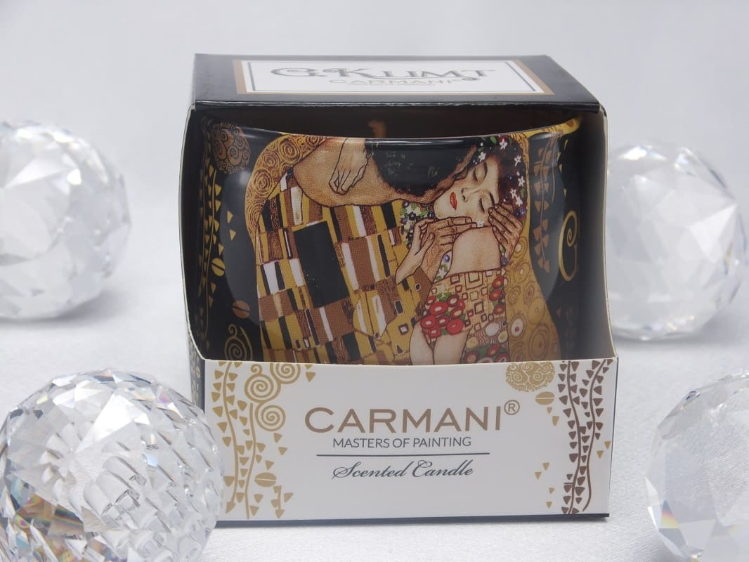 CARMANI - 1990 Gustav Klimt - The Kiss - Scented Candle Sensuality in gift box