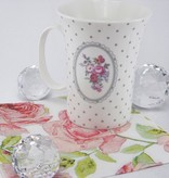Dallas - stylish porcelain mug in white