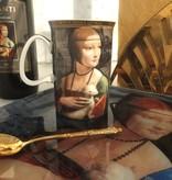 CARMANI - 1990 Leonardo da Vinci -  Dame mit dem Hermelin - Dekorationsplatte