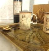 CARMANI - 1990 Leonardo da Vinci - Vitruvian Man - large decorative plate