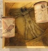 CARMANI - 1990 Leonardo da Vinci - Vitruvmann - große Dekorationsplatte