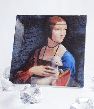 CARMANI - 1990 Leonardo da Vinci - Glasteller - Dame mit dem Hermelin