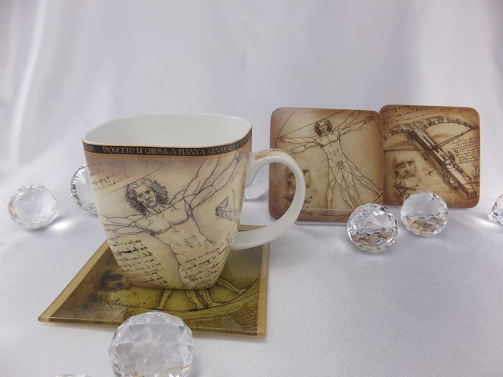 CARMANI - 1990 Leonardo da Vinci - Vitruvian Porcelain Cup in Fine bone China