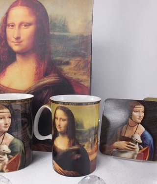 CARMANI - 1990 Leonardo da Vinci - Coffee Mugs -Mona Lisa