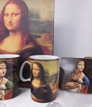 CARMANI - 1990 Leonardo da Vinci - Kaffeetassen -Mona Lisa