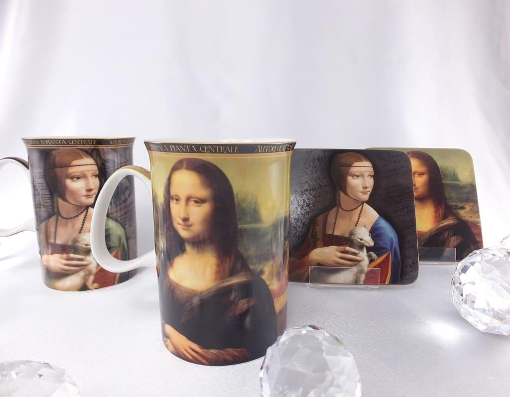 CARMANI - 1990 Leonardo da Vinci - Porcelain Cups in Fine Bone China