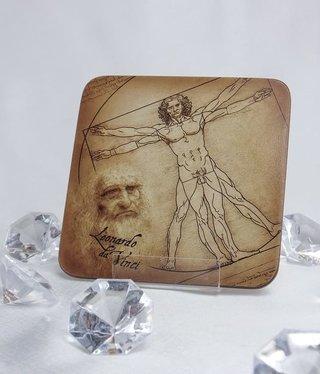 CARMANI - 1990 Leonardo da Vinci - Cork Coaster - Vitruvian Man