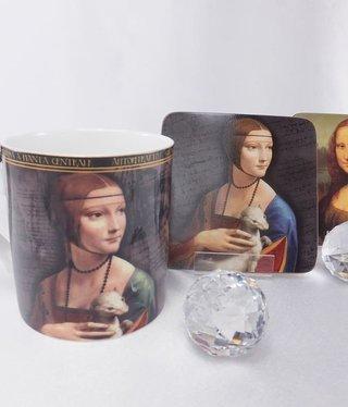 CARMANI - 1990 Leonardo da Vinci - Kaffeetasse - Dame mit dem Hermelin