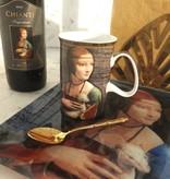 CARMANI - 1990 Leonardo da Vinci - Porcelain Cup - Lady with an Ermine