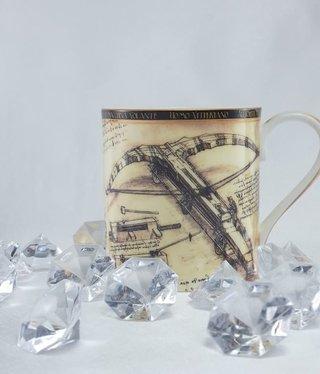 CARMANI - 1990 Leonardo da Vinci - Kaffeetasse - Kampfmaschinen