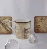 CARMANI - 1990 Leonardo da Vinci porcelain cup - fighting machines