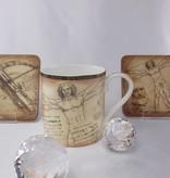 CARMANI - 1990 Leonardo da Vinci - Porzellantasse in Fine Bone China