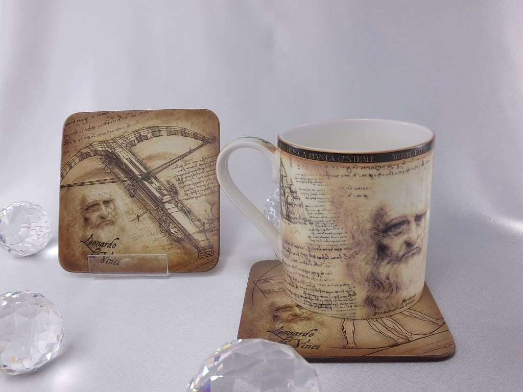 CARMANI - 1990 Leonardo da Vinci - Porcelain Cup in Fine Bone China