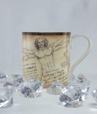 CARMANI - 1990 Leonardo da Vinci - Coffee Cup - Vitruvian Man