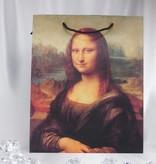 CARMANI - 1990 Leonardo da Vinci - große Geschenktasche mit zwei unterschiedlichen Portraits
