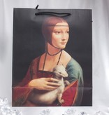 CARMANI - 1990 Leonardo da Vinci - large gift bag with two different portraits