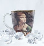 CARMANI - 1990 Leonardo da Vinci - Porcelain Cup in Fine Bone China - Lady with an Ermine