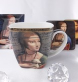 CARMANI - 1990 Leonardo da Vinci - Porzellantasse in Fine Bone China -  Dame mit dem Hermelin