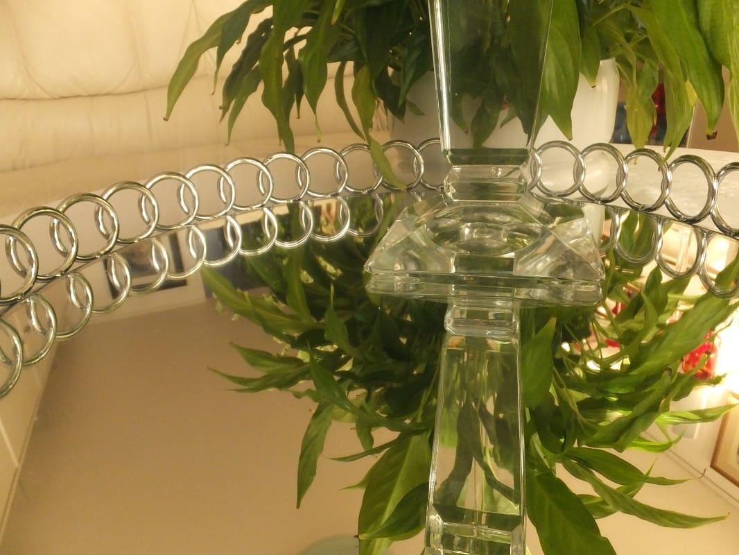 Julia - 1842  Carat - dekorativer Kerzenständer aus Kristallglas   - large
