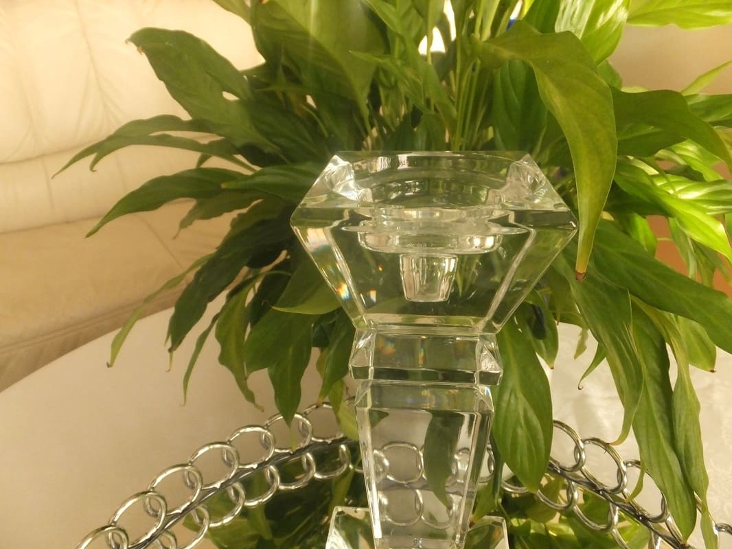 Julia - 1842  Carat - decorative glass candle holder - medium