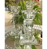 Julia - 1842  Carat - dekorativer Kerzenständer aus Kristallglas   - medium