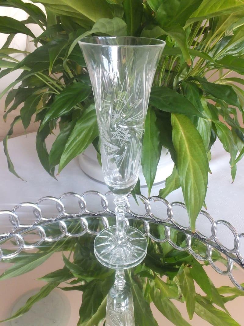 Julia - 1842  Crystal glass CARAT - Champagne glass hand cut