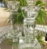 Julia - 1842  Carat - dekorativer Kerzenständer aus Kristallglas