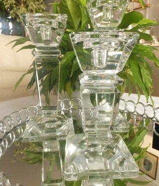 Julia - 1842  Carat - Kerzenständer aus Glas - L