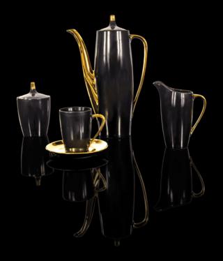 Cmielow - 1790 Glamour I - Kaffeeservice - nero/gold