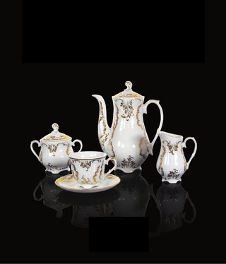Cmielow - 1790 Glamor XII - coffee service 6/15 in white / gold