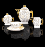 Cmielow - 1790 Glamor IV coffee - tea service for 6 persons with marbled surface.