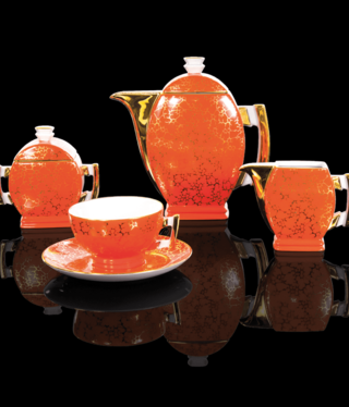Cmielow - 1790 Glamor V - coffee service 6/15 in red